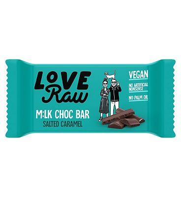 LoveRaw Vegan Milk Chocolate Salted Caramel Bar - 30g