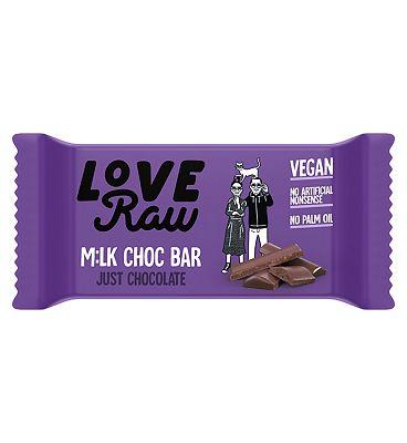 LoveRaw Vegan Milk Chocolate Just Chocolate Bar - 30g