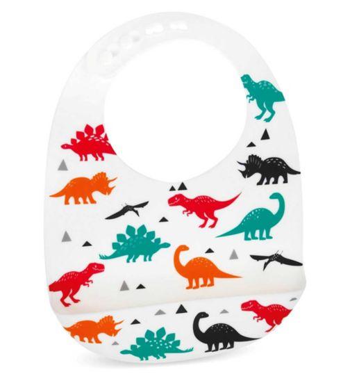 Nuby Decorated Silicone Bib - 6m+