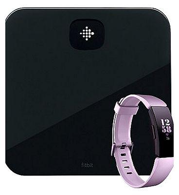 Fitbit Aria Air Black & Lilac Fitbit HR