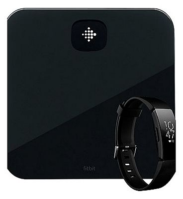 Fitbit Aria Air Black & Black Fitbit HR