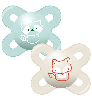 MAM 0-2m Start Soother 2 Pack - Blue