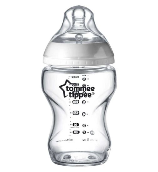 Tommee Tippee Closer to Nature Clear Baby Bottle - 260ml