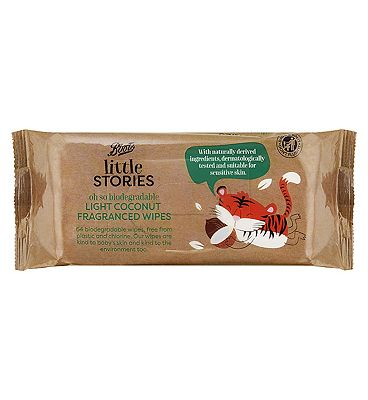 Image of Boots Little Stories biodegradable wipes 64