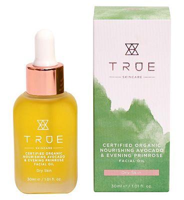 TRUE Skincare Certified Organic Nourishing Avocado & Evening Primrose Facial Oil 30ml