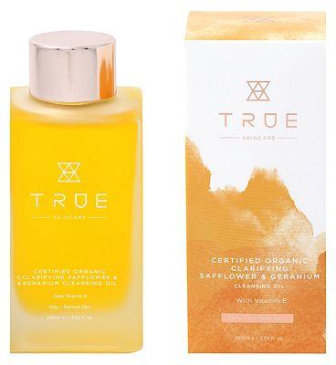 TRUE Skincare Certified Organic Clarifying Safflower & Geranium Cleansing Oil 100ml