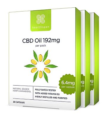 Healthspan High Strength CBD Oil 192mg 30s x 3 Bundle