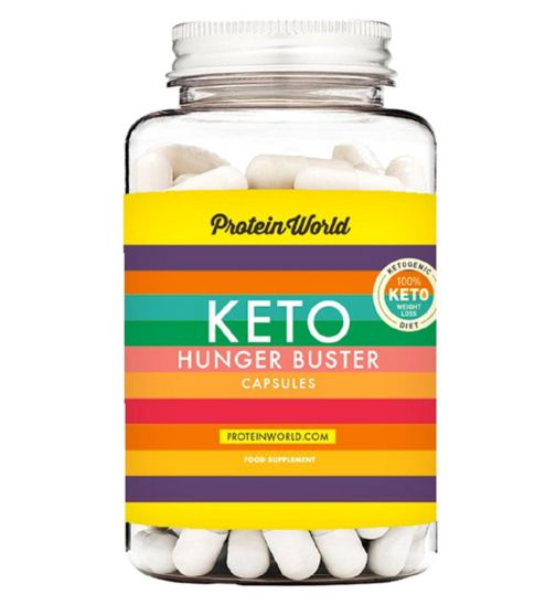 Protein World Keto Hunger Buster Capsules - 90 Caps