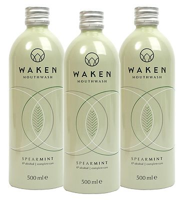 Waken Mouthwash SpearMint 3 Month Bundle