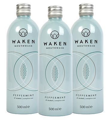 Waken Mouthwash PepperMint 3 Month Bundle