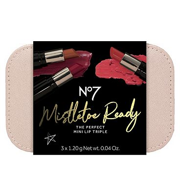 Image of No7 Mistletoe Ready THE PERFECT MINI LIP TRIPLE Christmas Gift Set