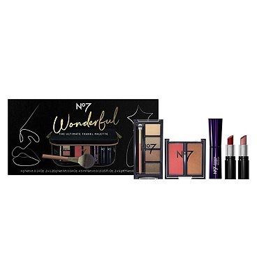 Image of No7 Wonderful THE ULTIMATE TRAVEL PALETTE Christmas Gift Set