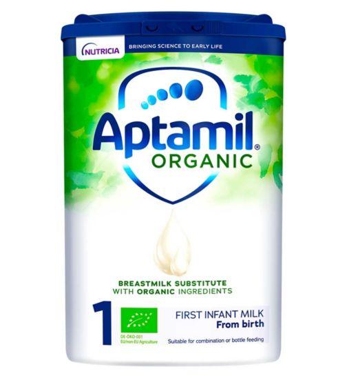 Aptamil Organic 1 First Baby Milk Formula Powder from Birth 800g
