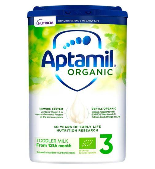 Aptamil Organic 3 Toddler Milk Formula Powder 1-2 Years 800g