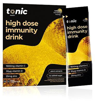 Tonic Health Lemon & Honey Sachets with Vitamins C, D and Zinc - 10