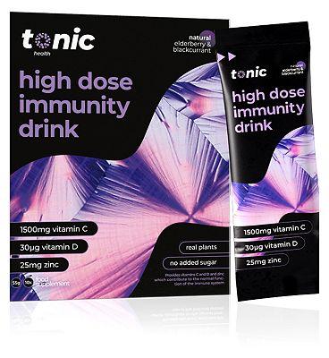 Tonic Health Elderberry & Blackcurrant Sachets with Vitamins C, D and Zinc - 10