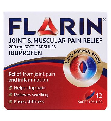 Flarin Joint & Muscular Pain Relief - 200mg 12 Soft Capsules