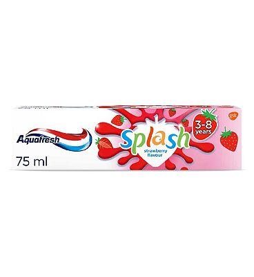 Aquafresh Kids Toothpaste Splash Strawberry & Mint Flavour 3-8 Years 75ml
