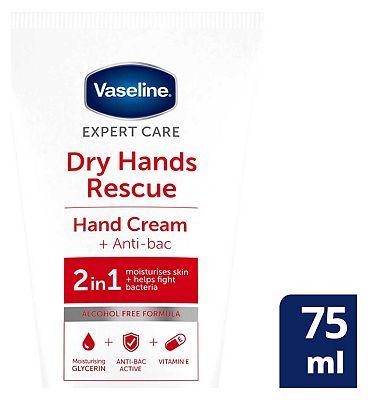Vaseline 2in1 Hand Cream & Anti-Bacterial 75ml