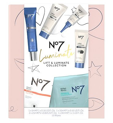 Image of No7 Luminate LIFT & LUMINATE COLLECTION Christmas Gift Set