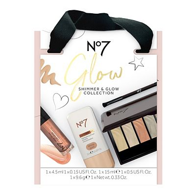Image of No7 Glow SHIMMER & GLOW COLLECTION Christmas Gift Set