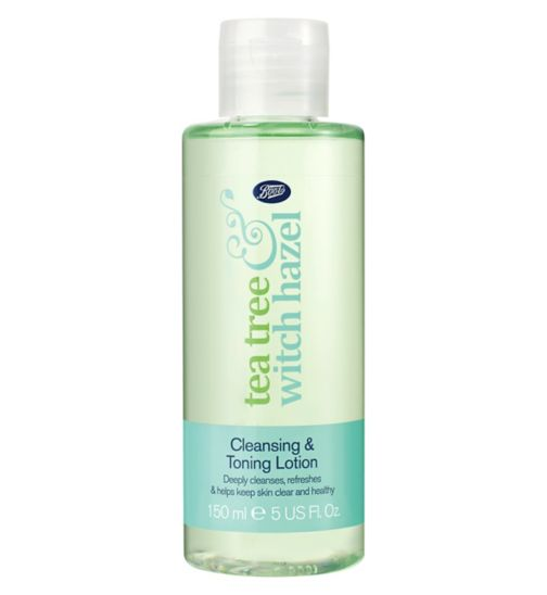 Boots Tea Tree & Witch Hazel Cleansing & Toning Lotion 150ml