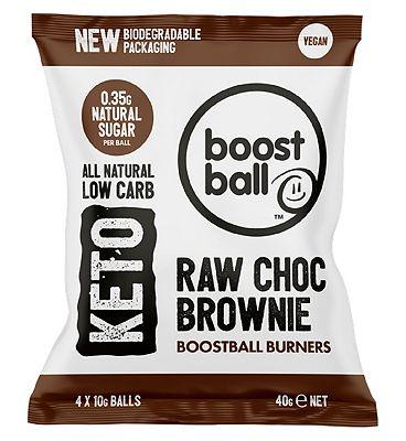 Boostball Keto Raw Choc Brownie Balls - 40g