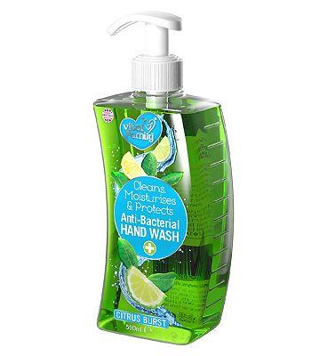 Vital Family Anti-bacterial hand wash, Citrus Burst, 500ml