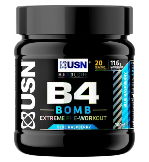 USN B4 Bomb Pre-Workout Blue Raspberry - 300g