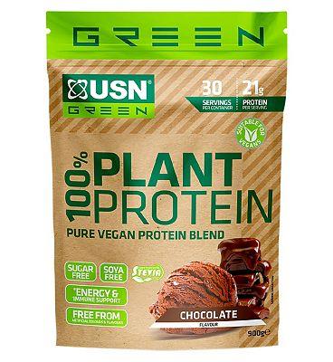 USN 100% Vegan Plant Protein Powder Chocolate - 900g
