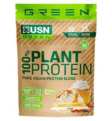 USN 100% Vegan Plant Protein Powder Vanilla - 900g