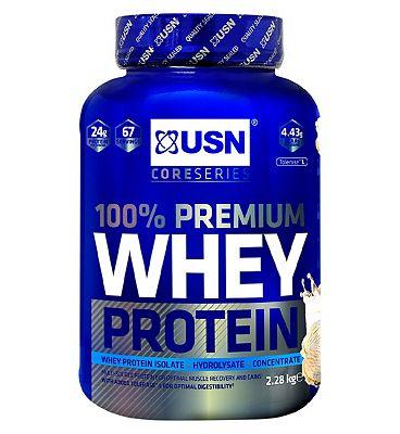 USN 100% Premium Whey Protein Powder Vanilla - 2.28kg