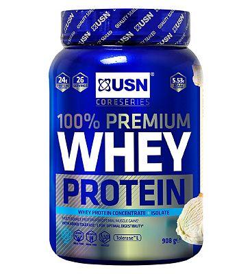USN 100% Premium Whey Protein Powder Vanilla - 908g