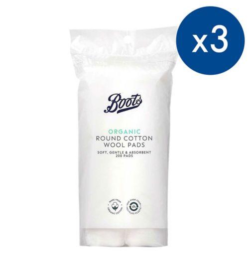 Boots Cotton Wool  Pads 200s;Boots Cotton Wool Pads 200 pack;Pack of 3 Boots Cotton Wool Pads 200