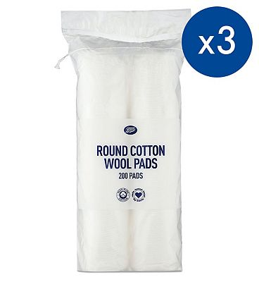 Image of Pack of 3 Boots Cotton Wool Pads 200