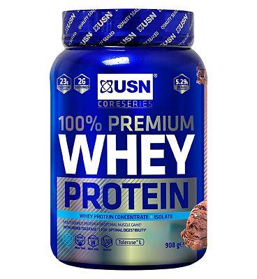 USN 100% Premium Whey Protein Chocolate - 908g