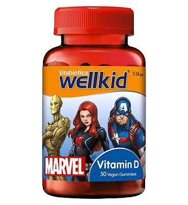 Vitabiotics Wellkid Marvel Vitamin D 50 Vegan Soft Jellies