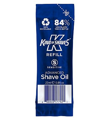 King of Shaves Sensitive Advanced Shave Oil with Vitamin E Refill Pouch 25ml