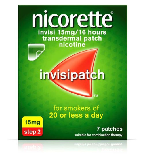 Nicorette Invisi 15mg/16 Hours Transdermal Nicotine 7 Patches