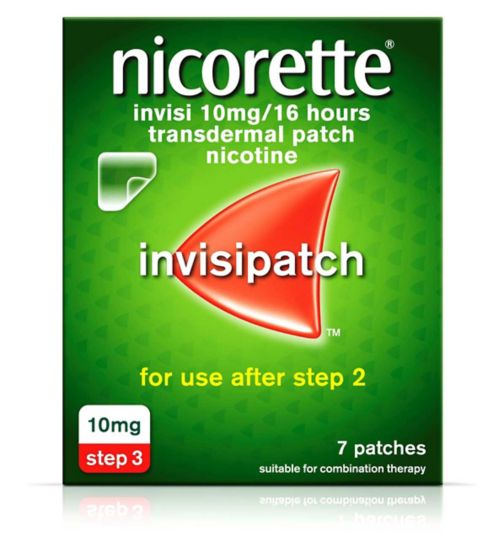 Nicorette Invisi 10mg/16 Hours Transdermal Nicotine 7 Patches