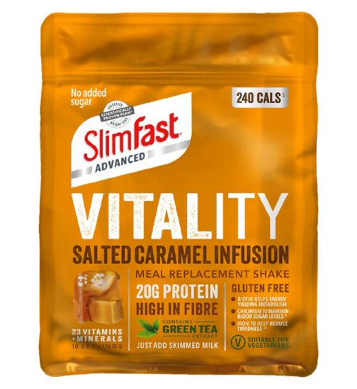 SlimFast Advanced Vitality Shake Salted Caramel - 400g