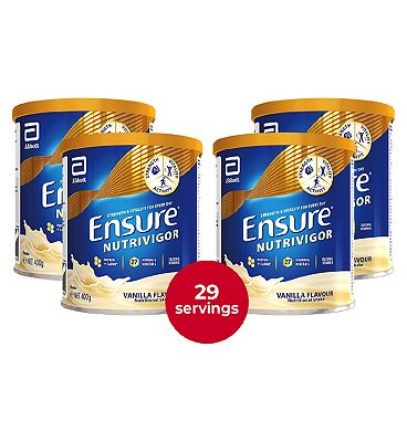 Ensure NutriVigor Shake Vanilla Flavour Bundle- 400g x 4