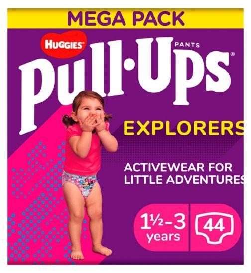 Huggies Pull-Ups Explorers, Girl, Size 1.5-3 Years, Nappy Size 4-5+, MEGA Pack, 22 BIG KID Pants