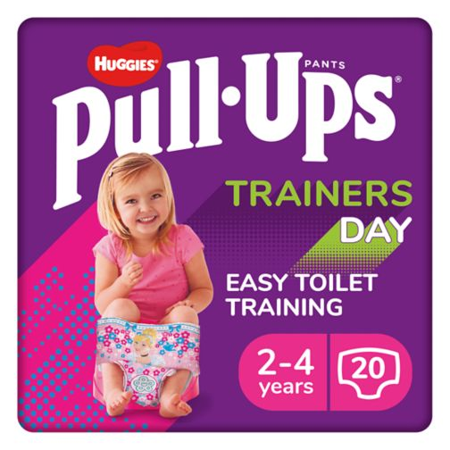 Huggies Pull-Ups Trainers Day, Girl, Size 2-4 Years, Nappy Size 5-6+, 20 BIG KID Training Pants
