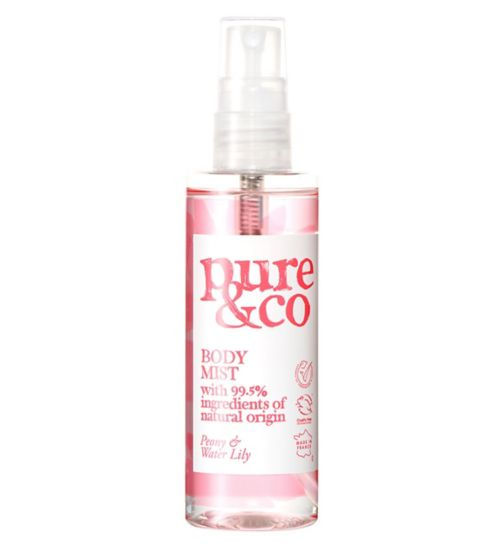 Pure & Co Peony and Water Lily body spray 100ml