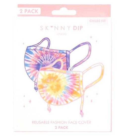 Skinnydip Kids Tie Dye Print Reusable Face Coverings - 2 Pack