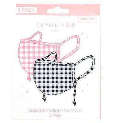 Skinnydip Children's Rainbow Print Reusable Face Coverings - 2 Pack