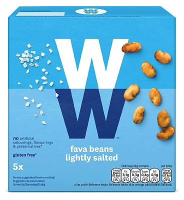 WW Fava Beans Lightly Salted 20g x 5pk 100g