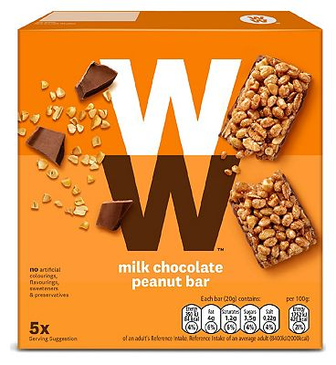 WW Peanut Cereal Bar 20g x 5pk - 100g