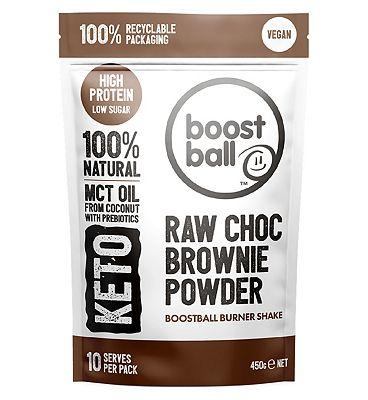 Boostball Vegan Keto Protein Powder Raw Choc Brownie - 450g